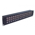 "Coaxial Balun Panel 19"" 32 Port BNC Female to RJ45 (Front Access)"