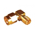 SMA Right Angle Male-Female Adapter