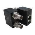 Dual Balun Shielded Bulkhead BNC(F)*2 to RJ45(F)